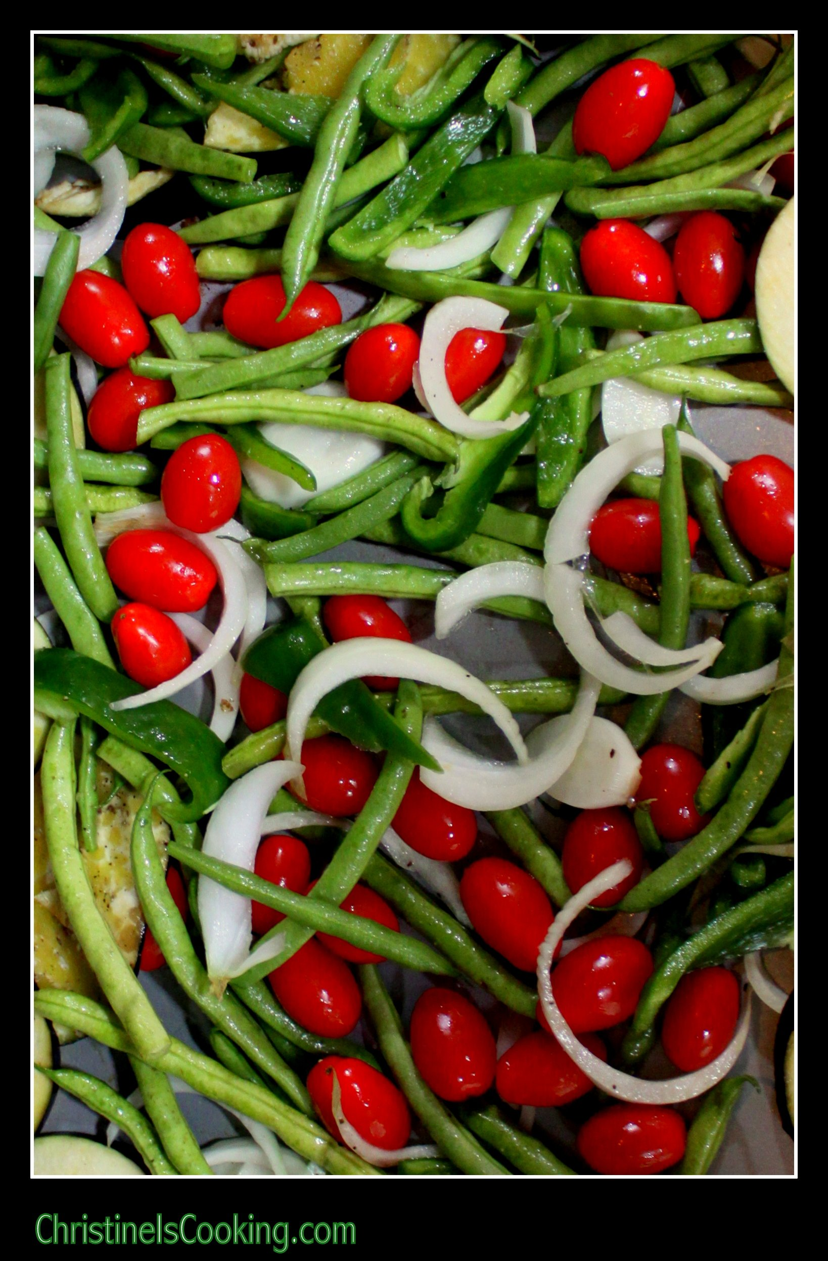 Here is an easy recipe for oven roasted green beans. This works well ...